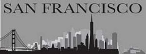 San Francisco steel sign 400mm x 150mm (ogu)